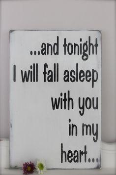 Custom Wood Sign Tonight I Will Fall Asleep Wall Art by InMind4U