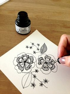 #ink #drawing #flowers by My Sweet Scarlett