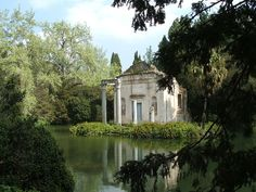 English garden of the Palace of Caserta