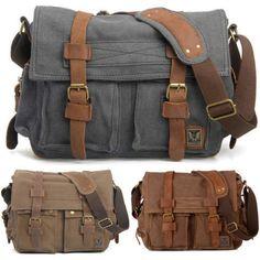 36f76780169b Men 100% Genuine Leather Large Brown Backpack Multi Compartments Travel  Rucksack. Brown BackpacksHiking BagWork BagsVintage CanvasCanvas ...