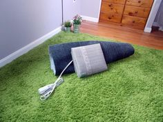 """40 Top Products from I Want That, Season Three: Like an electric blanket for your floor, RugBuddy from Martinson-Nicholls Inc. is a portable heating system approved for use under area rugs. Simply place the heating mat under your area rug to turn your rug into an """"invisible space heater.""""   See the video.   From DIYnetwork.com"""