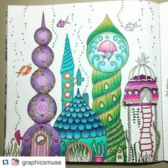 """""""!!!! By @graphicsmuse  #Repost @graphicsmuse with @repostapp. ・・・ #wip #ilovetocolor #colouringforgrownups #myCreativeEscape #prismacolorpencils…"""""""