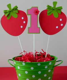 3 Berry Sweet Strawberry Birthday Party by sweetheartpartyshop