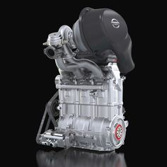 """The incredibly small engine weighs only 40 kilograms (88 pounds) but produces an astonishing 400 horsepower. The base engine is only 500 mm tall x 400 mm long x 200 mm wide (19.68"""" x 15.74"""" x 7.78""""). Revving to 7,500 rpm, the Nissan DIG-T R produces 380 Nm of torque."""
