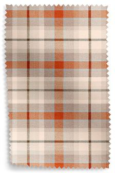 Versatile Check Rustic Ginger Fabric Roll