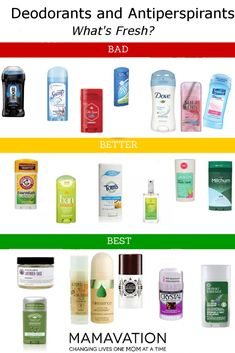 Toxic Deodorant Chemicals–Which Brands to Avoid & Best Brands Toxic Deodorant Chemicals–What Brands to Avoid & Best Brands Available Best Natural Deodorant, Best Aluminum Free Deodorant, Deodorant Best, Health And Wellness, Health And Beauty, Deodorant For Women, Homemade Deodorant, Perfume, Clean Beauty