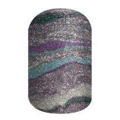 'Grey Agate' features sparkling grey, lilac, and teal hues for a fabulous mani on your nails.