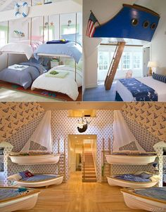 this round-up of nautical ideas makes me want to change Luke's room to a nautical theme
