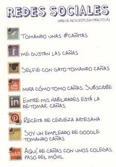Salir a tomar algo según las #RedesSociales #Humor