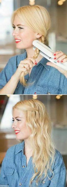 Una forma fácil y rápida de ondear el cabello :)