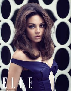 That '60s Show: Actress Mila Kunis smoulders in a photoshoot for the August edition of Elle UK magazine