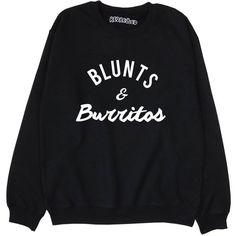 Blunts & Burritos Sweatshirt 70s Retro 90s Pot Marijauna Cannabis... ($26) ❤ liked on Polyvore featuring tops, hoodies, sweatshirts, black, women's clothing, retro tops and retro sweatshirts