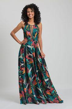 Vestido Estampado Tiegs »  Convidada Maxi Wrap Dress, Floral Maxi Dress, Casual Dresses, Short Dresses, Fashion Dresses, Tropical Dress, Ankara Dress, Indian Dresses, Designer Dresses