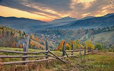 Autumn landscape from Transylvania, Romania
