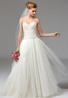 Watters Ivory Ahsan Tulle Skirt Modern Wedding Dress Size 10 (M) Fairy Wedding Dress, Wedding Dress Pictures, Wedding Dresses Photos, Wedding Dress Sizes, Bridal Skirts, Bridal Gowns, Wedding Gowns, 2017 Bridal, Ball Dresses