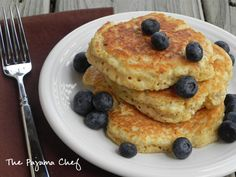 Quinoa Pancakes -- love this recipe for getting a protein boost for breakfast