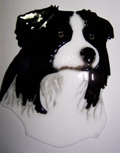 Two of my favorite things! Border Collies and glass.