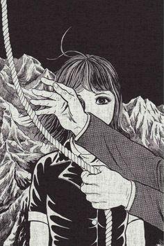 No tears for the creatures of the night. Japanese Horror, Japanese Art, Ero Guro, Art Vintage, Arte Horror, Manga Artist, Vintage Horror, Manga Illustration, Manga Comics