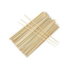 Farberware 77652-10 BBQ 12 in. Bamboo Skewers, 100 CT by Farberware. $4.99. Pack of 100, 12 long.. Great Gift Idea.. Extra thick skewers to keep your meats, seafood, vegetables or fruits secure and easy to. Soak skewers in water 30 minutes before placing on grill.. Design is stylish and innovative. Satisfaction Ensured.. Extra thick skewers to keep your meats, seafood, vegetables or fruits secure and easy to turn. Soak skewers in water 30 minutes before placing on grill. Pac...