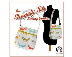 Bag sewing pattern - The Shapely Tote bag. PDF purse pattern. Bucket bag. Purse Patterns and tutorials