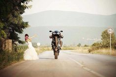 Seriously though. Huge discount to anyone involving motorcycles in their wedding or engagement photos. - perfectcapturephoto.com (this is not our photo)