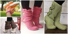 10 High Knee Crochet Slipper Boots Patterns to Keep Your Feet Cozy