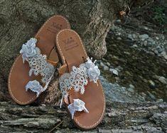 Bride 's leather sandals Palm Beach Sandals, Leather Sandals, Bride, Wedding Bride, Bridal, The Bride, Brides