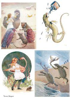 Alice in Wonderland illustrations by Margaret Tarrant