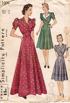 Simplicity 3306 - double-breasted wrap dress