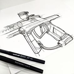 Paintball sketch #industrialdesign #id #design #doodle #paintball #idsketch