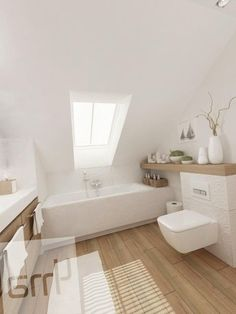 woooooow, I ideas flooring crafts projects crafts for adults solar craft projects ideas Master Bedroom Bathroom, Attic Bathroom, Small Bathroom, Bathroom Interior Design, Bathroom Inspiration, Home And Living, Home Goods, House Design, Diy Solar