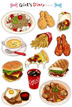 음식 이모티콘 움직이는 이모티콘 : 네이버 블로그 Cute Food Art, Cute Food Drawings, Food Sketch, Food Stickers, Football Food, Logo Food, Food Packaging, Food Illustrations, Food Gifts