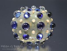Bumpy Glass Lampwork Bead by Helen Gorick UK SRA