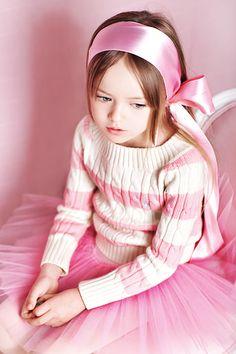 Kristina Pimenova Russian Child Model - So pretty in pink and with a pink tutu too.