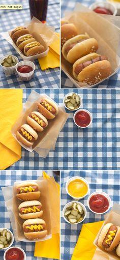 mini hot dog in a roll