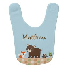 Forest Animal Baby Bib