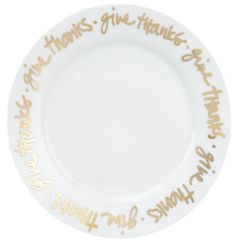 DIY give thanks plate