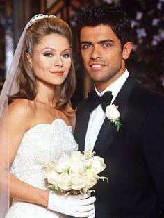All My Children Weddings: Susan Lucci, Kelly Ripa Wedding Movies, Wedding Videos, Wedding Pics, Wedding Couples, Cute Couples, Wedding Albums, Movie Couples, Post Wedding, Formal Wedding