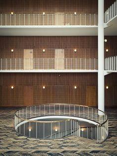 Aarhus city hall, Arne Jacobsen & Erik Møller
