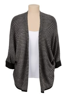 Open Front Striped Cardiwrap (original price, $34) available at #Maurices