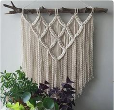 New wall hanging with a super-unique piece of Chesapeake driftwood This LARGE hanging will show up in the shop very soon showmeyourboho macrame modernmacrame etsyseller weloveplants bohochic houseplantclub bohemianstyle gypsysoul vintage apartmenttherapy Driftwood Macrame, Macrame Art, Macrame Projects, Macrame Wall Hanging Patterns, Large Macrame Wall Hanging, Macrame Patterns, Macrame Wall Hangings, Tapestry Wall, Art Macramé