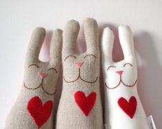 Handmade bunny plushes!