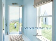 Benjamin Moore paint color of the year 2014 - A Breath of Fresh Air 806A