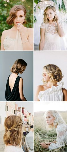 20 Totally Chic On-Trend Ways to Style Your Bridal Bob / Lob! Modern Chic!