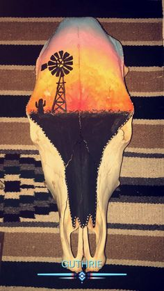 105 Best Painted cow skulls images in 2018 | Cow head, Bull skulls