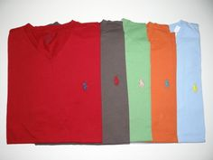 Polo Ralph Lauren Men's 100% Cotton V-Neck T-Shirt Sig Pony Logo Sz: S,M,L, & XL #PoloRalphLauren #VNeck