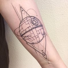 Death Star for Signý to commemorate her time working on episode VIII! . . . #tattoo #ink #auduryrtattoo #geometrictattoo #geometric #starwars #starwarstattoo #starwarsfan #deathstar #deathstartattoo #sw #maytheforcebewithyou #darthvader #blackwork #blackworkers #linework #icelandtattoo