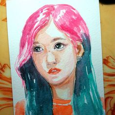 Watercolor Twice Mina