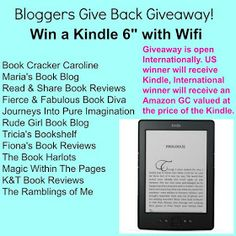 Book Cracker Caroline: Bloggers Give Back Giveaway: Enter to Win a Kindle