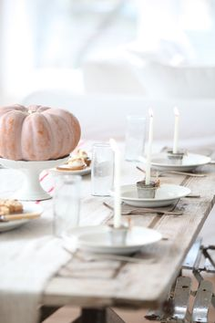 Fall table - Dreamy Whites blog